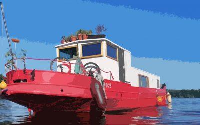 Tiny-Houseboat: Leben auf der Spandauer Havel